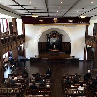改修後の滋賀大学彦根キャンパス講堂大ホール